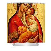 Mary The God Bearer Shower Curtain by Philip Ralley