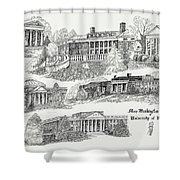 Mary Washington College Shower Curtain