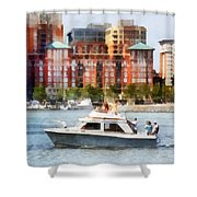 Maryland - Cabin Cruiser By Baltimore Skyline Shower Curtain