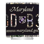 Maryland License Plate Shower Curtain