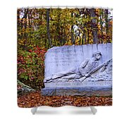 Maryland Monument At Gettysburg Shower Curtain