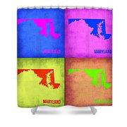 Maryland Pop Art Map 1 Shower Curtain