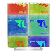 Maryland Pop Art Map 2 Shower Curtain