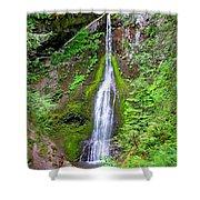 Marymere Falls - Full View Shower Curtain