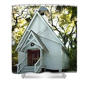 Mary's Chapel Shower Curtain