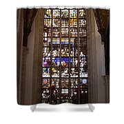 Mary's Deathbed Religious Art In Oude Kerk Shower Curtain