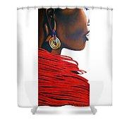 Masai Bride - Original Artwork Shower Curtain
