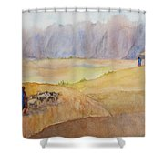 Masai Village Shower Curtain