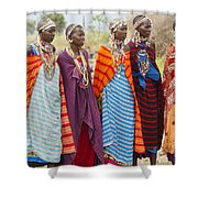 Masai Women Kenya Shower Curtain