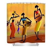 Masai Women Quest For Water Shower Curtain