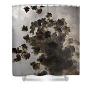 Mascleta Explosion Shower Curtain
