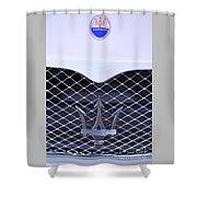 Maserati Emblems Shower Curtain