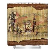 Masjid E Nabwi Sketch Shower Curtain