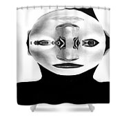 Mask Black And White Shower Curtain