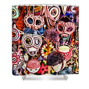 Mask Me In El Casco By Diana Sainz Shower Curtain