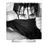 Easy On The Eyes Palm Springs Shower Curtain