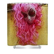 Mask Water Color 1 Shower Curtain