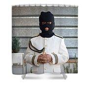 Masked First Communion Shower Curtain