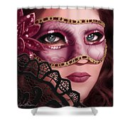 Masked II Shower Curtain