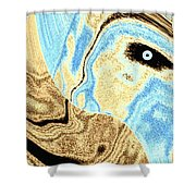 Masked- Man Abstract Shower Curtain
