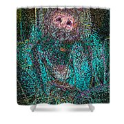 Lady Behind The Mask Shower Curtain