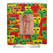 Masks 2 Shower Curtain by Patrick J Murphy