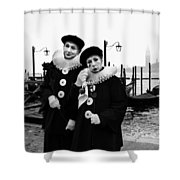Masks In Venice Shower Curtain
