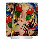 Masks Of New Orleans Shower Curtain