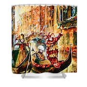 Masks Of Venice Shower Curtain