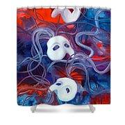 Masks V Shower Curtain