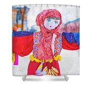 Maslenitsa Dolls 4. Russia Shower Curtain