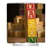 Mason - Alphabet Blocks Shower Curtain