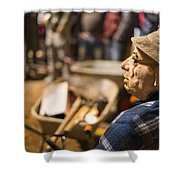 Masquerade Farmer Shower Curtain