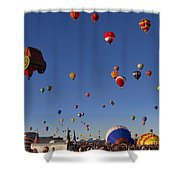 Mass Ascension Shower Curtain