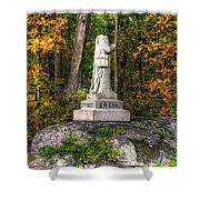 Massachusetts At Gettysburg - 37th Mass. Infantry Autumn Early-evening Sedgwick Avenue Shower Curtain