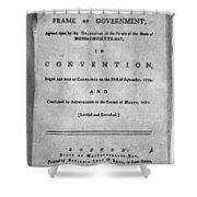 Massachusetts Constitution Shower Curtain