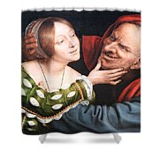 Massays' Ill Matched Lovers Or Badly Matched Lovers Shower Curtain