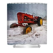 Massey Harris Mustang Shower Curtain by Bob Orsillo