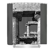 Massive Columns Of Paestum Shower Curtain