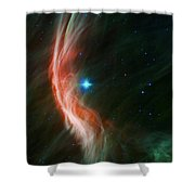 Massive Star Makes Waves Shower Curtain