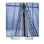 Mast And Rigging Series Number Two Shower Curtain