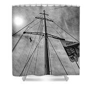 Mast Of Yacht Shower Curtain