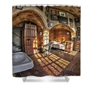 Master Bedroom At Fonthill Castle Shower Curtain by Susan Candelario