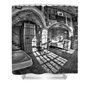 Master Bedroom At Fonthill Castlebw Shower Curtain
