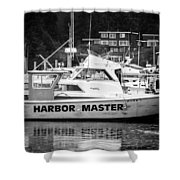 Master Of The Harbor Shower Curtain by Melinda Ledsome
