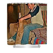Master Potter At Work In Avanos-turkey Shower Curtain by Ruth Hager