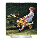 Mastering The Backhoe Shower Curtain