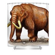 Mastodon Shower Curtain