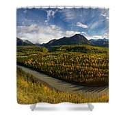 Mat-su Bend 2 Shower Curtain by Ed Boudreau