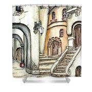 Matera Shower Curtain by Pamela Allegretto